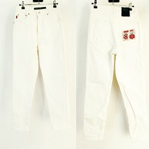 VTG high rise white denim jeans